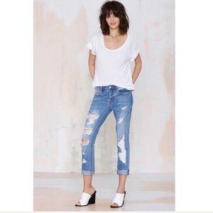 The Distress Less Slim Jeans